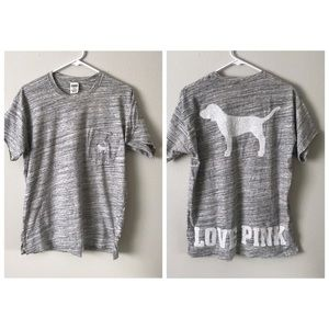 Victoria's Secret Pink Sequin Dog Pocket Tee